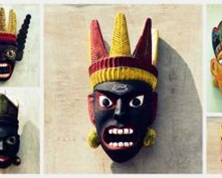 The famous wooden mask festival of Bengal ends ...