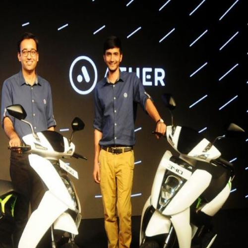 Two electric scooters launched by Ather