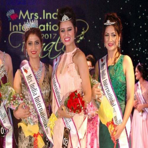 The grand finale of Mrs India International