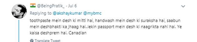 नागरिकता को लेकर फिर ट्रोल हुए अक्षय कुमार, इस बात पर भड़का लोगों का गुस्सा ! 2