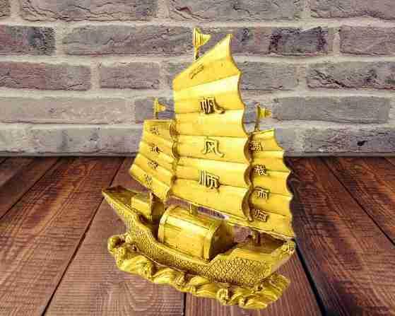 Golden boat in feng shui