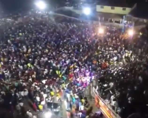 समारोह में भीड़ जुटी, पूर्व मंत्री बोले- गलती हो गई, माफ कर दो...