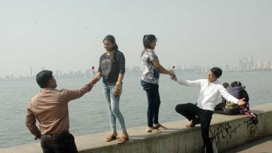 मुंबई में वेलेंटाइन डे की धूम