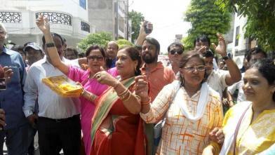 रामनाथ कोविंद की जीत पर कानपुर में खुशी की लहर