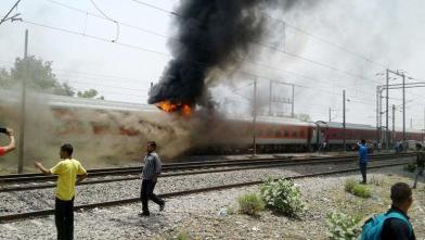 आंध्रप्रदेश एक्सप्रेस में आग लगी