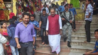 केंद्रीय कृषि मंत्री राधामोहन सिंह ने किया कामाख्या मंदिर का दौरा
