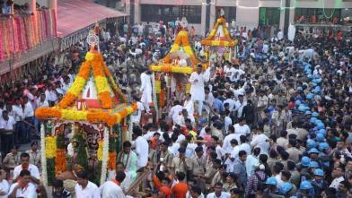 कड़ी सुरक्षा में निकली भगवान जगन्नाथ की 141 वीं रथयात्रा