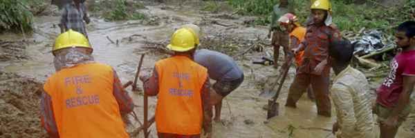 Bangladesh, Landslide, Rain, ധാക്ക, മണ്ണിടിച്ചില്, ബംഗ്ലാദേശ്, മഴ, കനത്തമഴ, മരണം, അപകടം