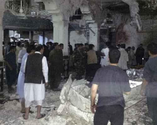 Asia ,  Afghanistan ,  Security , Suicide bomber , Shia mosque , മുസ്ലിം പള്ളി , അഫ്ഗാനിസ്ഥാന് , ചാവേറാക്രമണം