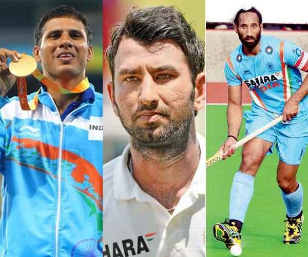Rajiv Gandhi Khel Ratna Award , Arjuna Award , Devendra Jhajharia , Sardar Singh , ഖേല്രത്ന , സര്ദാര് സിങ്ങ് , ദേവേന്ദ്ര ജഗാരിയ , പൂജാര ,  അര്ജുന