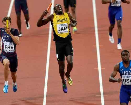 Usain Bolt ,  World Athletics Championships 2017 , ഉസൈൻ ബോള്ട്ട് , ലോക അത്ലറ്റിക് ചാമ്പ്യൻപ്പ്