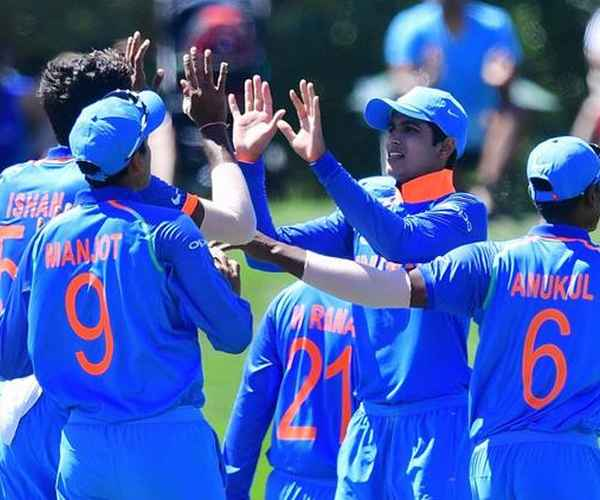 under 19 world cup , cricket , india , pakistan , semi final , icc , shubman gill , century , rahul dravid , അണ്ടര് 19 ലോകകപ്പ് ക്രിക്കറ്റ് , ഇന്ത്യ , പാകിസ്ഥാന് , സെമി ഫൈനല് , ഐസിസി , ശുഭ്മാന് ഗില്