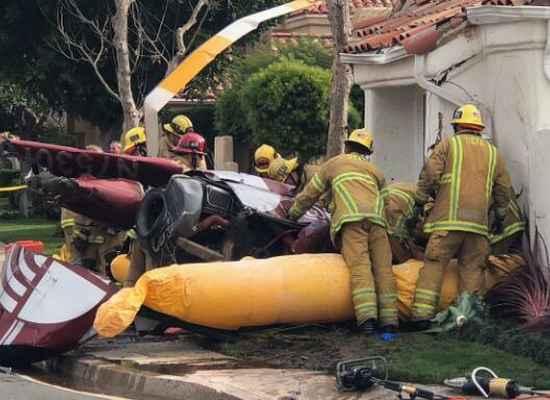 Newport Beach  , helicopter crash , Southern California , ഹെലികോപ്റ്റർ  , അപകടം , മരണം , പരുക്ക്