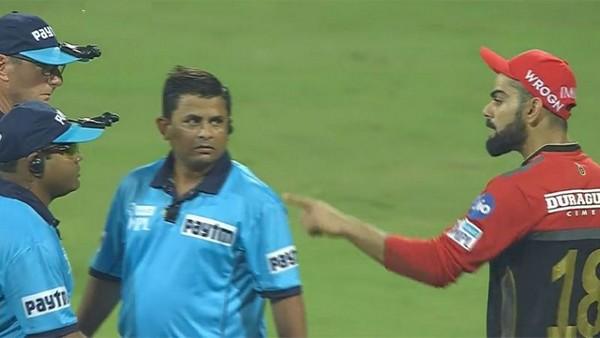 virat kohli , IPL , crikcet , third umpire , വിരാട് കോഹ്ലി , ക്രിക്കറ്റ് , ഐപിഎല് , ആര് സി ബി