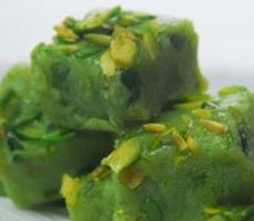 green peas barafi