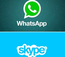 Whatsapp and Skype