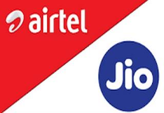 reliance jio - airtel