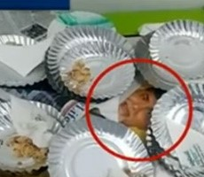 waste plates on Babu photo