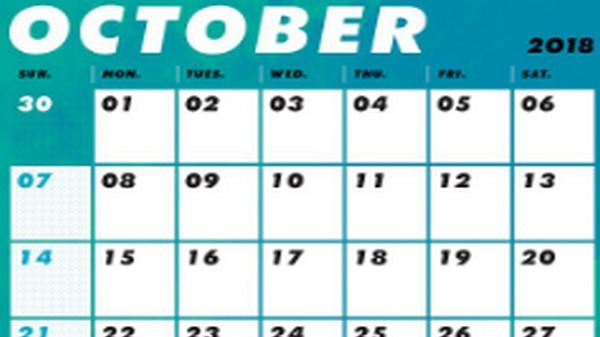 october month