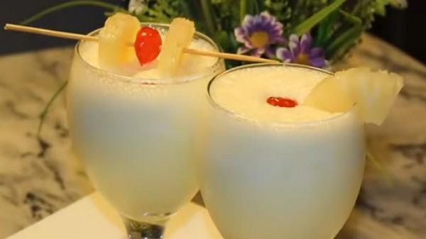 pineapple, milkshake