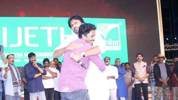 Fan hugs Pawan Kalyan